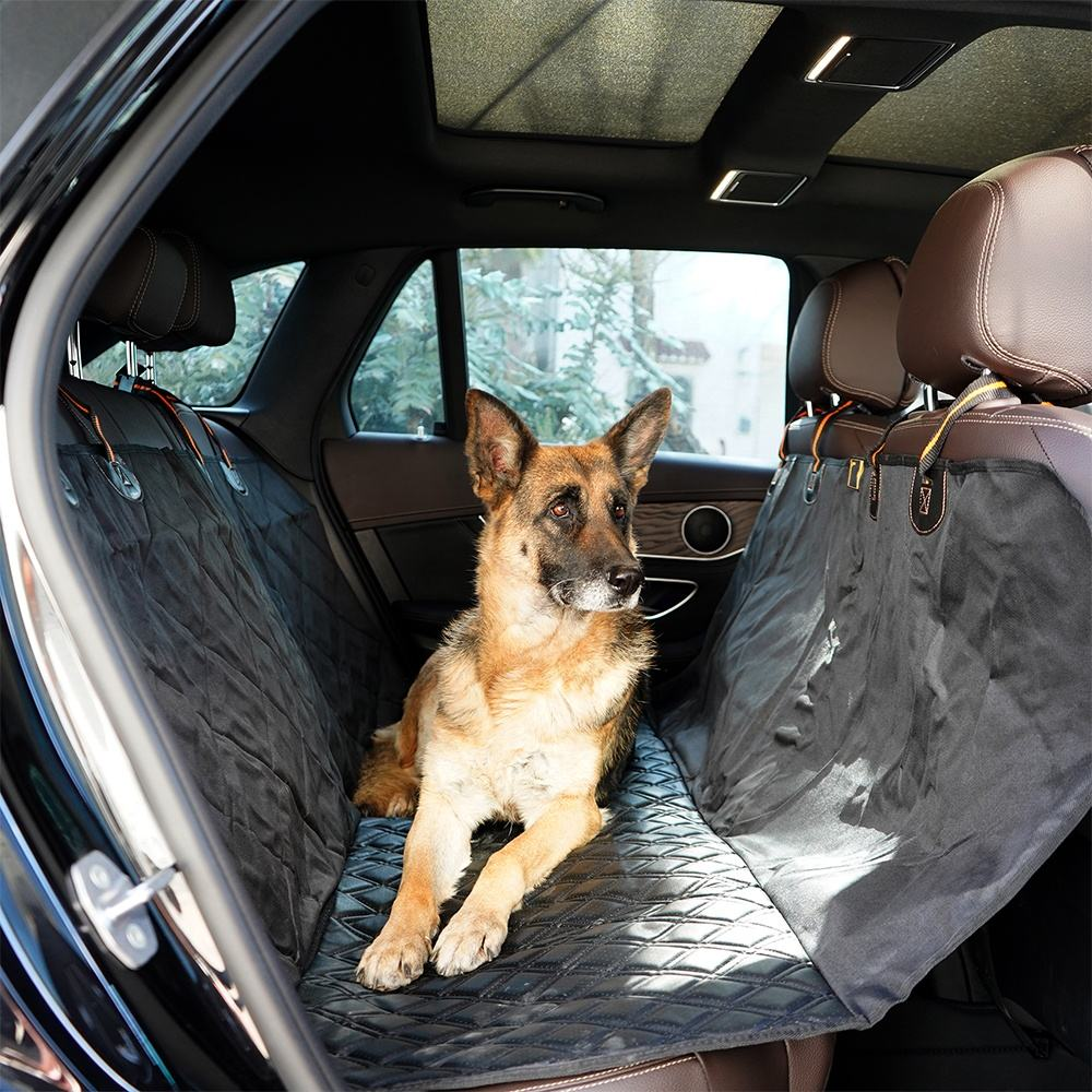 LaiFug 100% Waterproof Dog Car Seat Covers More Durable Scratchproof Dog Seat Cover for Back Seat Universal Size Fits for Cars