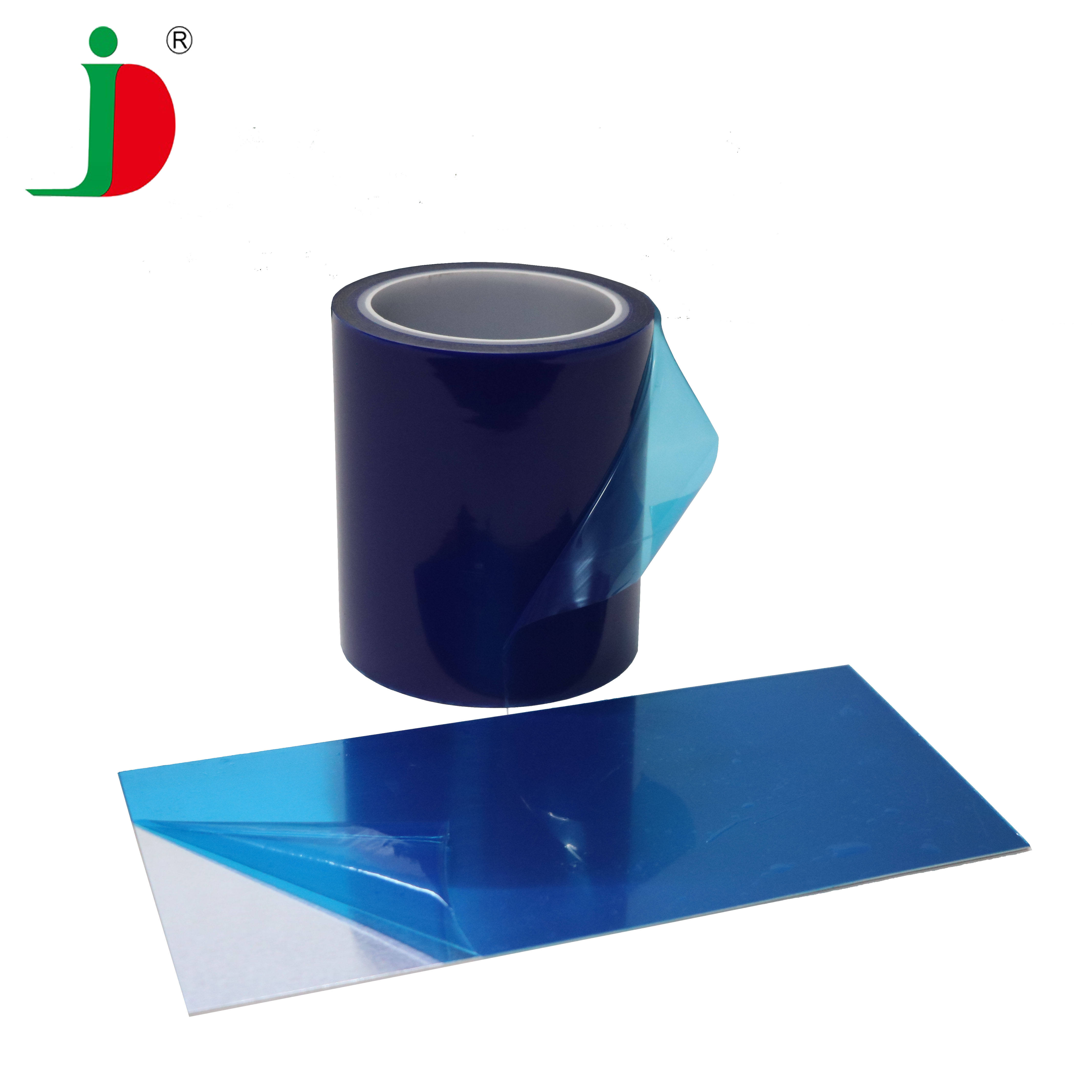 Industry Hot Sale High Quality Printed Transparent Plastic Aluminum Sheet Blue LDPE Protection Film For Glass Surface