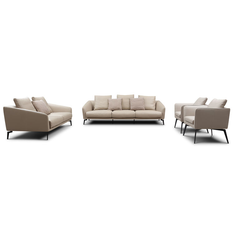 Luxury imported Nappa heated modern unique large dubai minimalist leather sofa