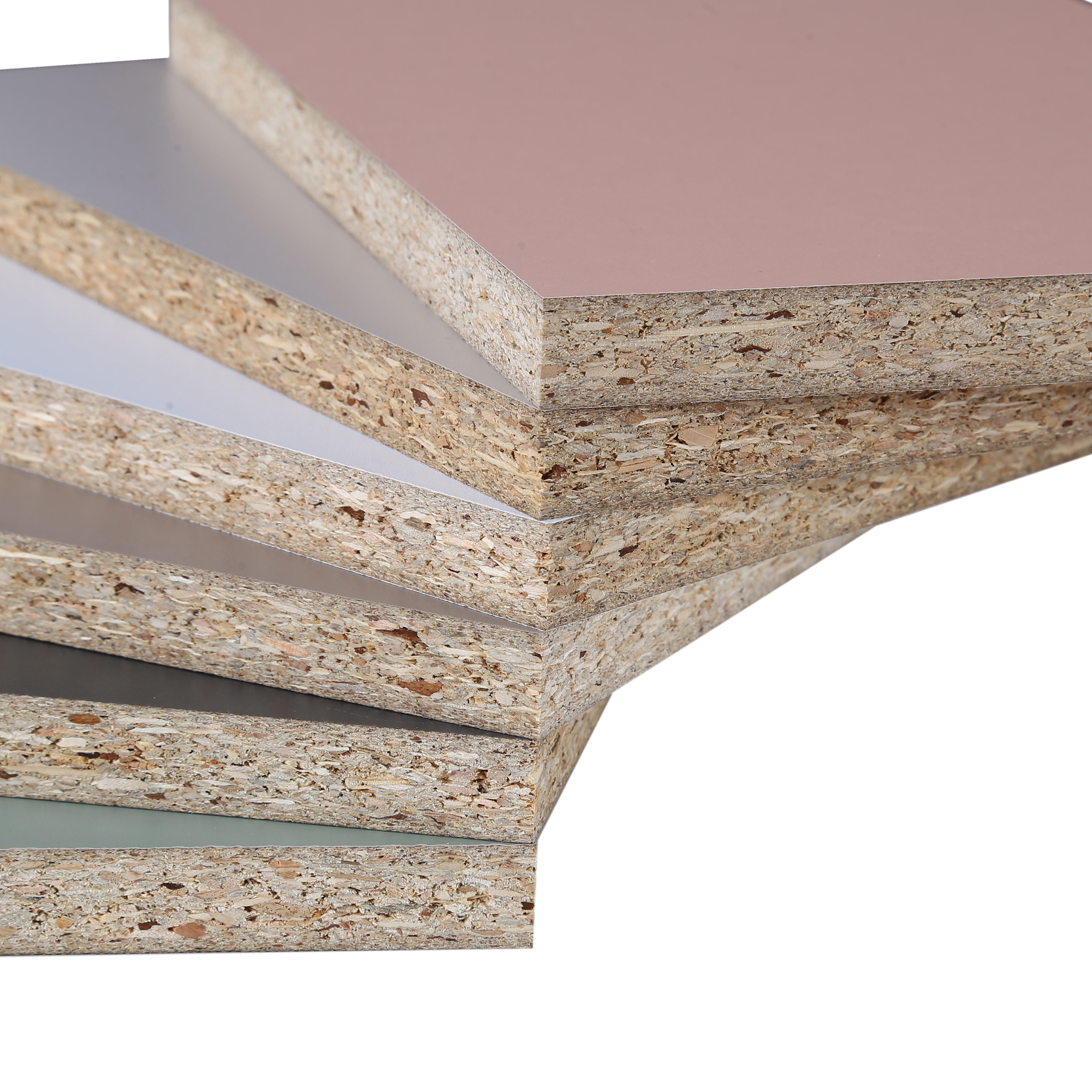 18MM Melamine Face Laminated Furniture Cabinet Use Moisture Proof Flakeboards Chipboard e1 particle board