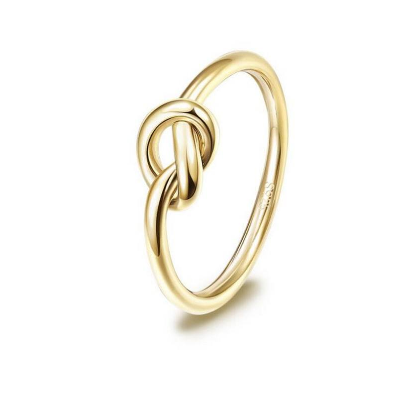 14K Gold Filled Knotted Delicate Ring, Know Sterling Silver Ring