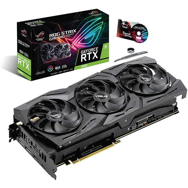 ASUS Best Selling NVIDIA GeForce ROG STIRX RTX2080 8GB Gaming GDDR6 Graphics Card with PCI Express 3.0