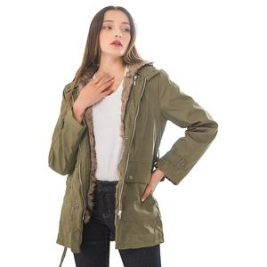 Winter ladies long coat detachable inner liner thickening warm women's cotton-padded jacket