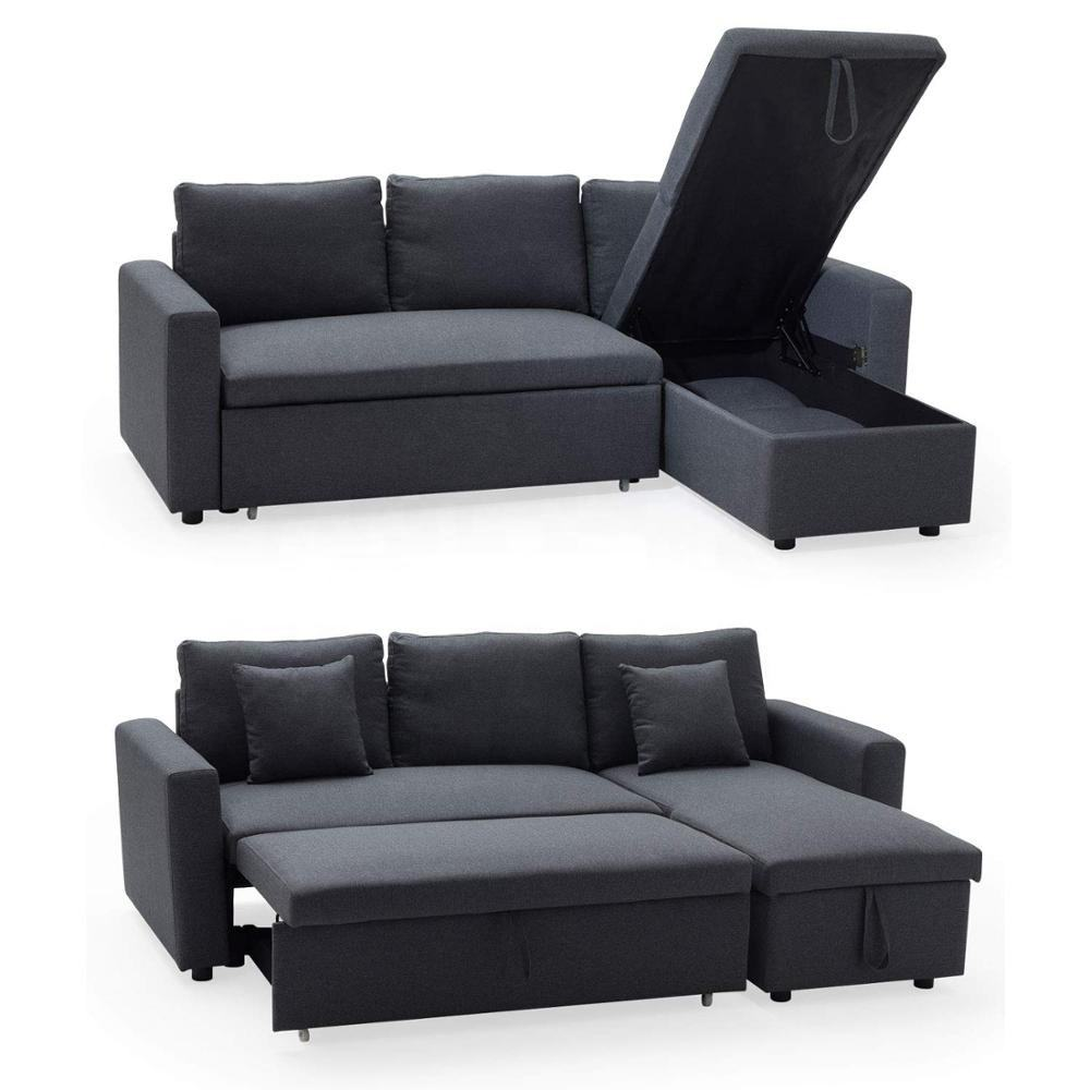 Modern Fabric European Style L Shaped Sofa Cheap Sectional Sofa Lounge Couch with Storage for Living Room