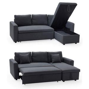 Modern Fabric European Style L Shaped Cheap Sectional Lounge Sofa Couch with Storage for Living Room