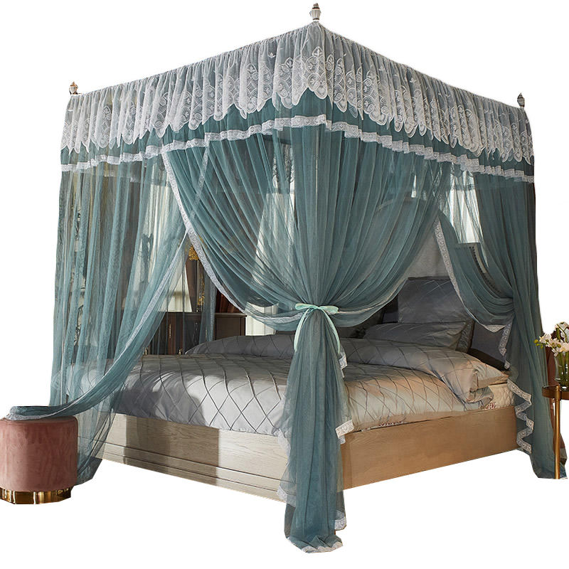 Wholesale three-door floor type court mosquito net encrypted yarn net princess style mosquito net