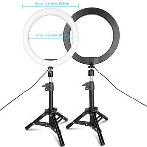 Travor RL-10 Tik Tok Foto Mini Ronde Ring Licht Vlog Live Vullen 10 Inch Cirkel Lamp Make Up Led Ring licht Met Statief