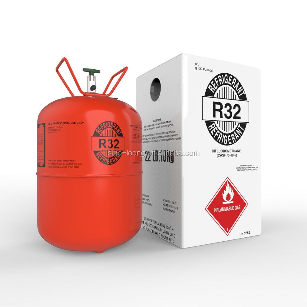 refrigerant gas r32 gas refrigerant manufactures R32 gas price 7kg disposable cylinder
