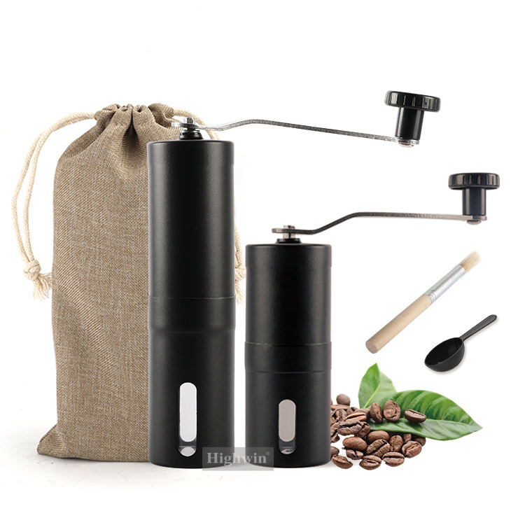 Factory Wholesale Customized Logo Commercial Portable Manual Burr Coffee Bean Grinder