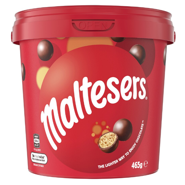 hot sales Maltesers Chocolate Bucket 465g Bucket from Australia Malt balls