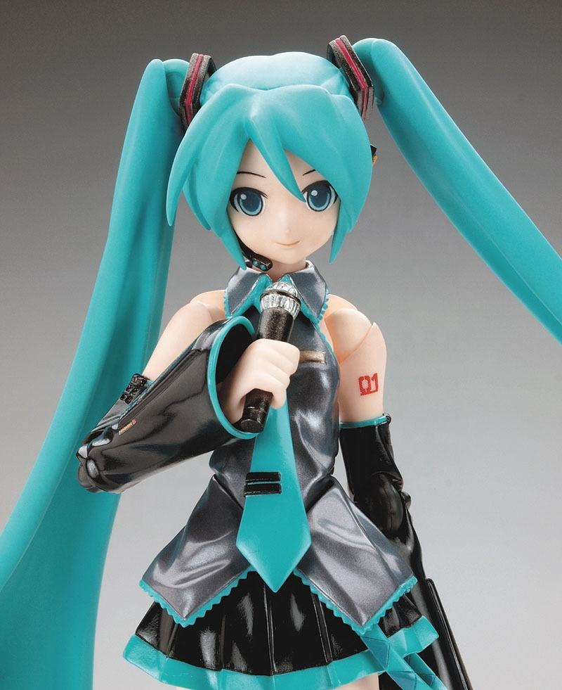 Singer Hatsune Miku Figma 014 Miko Ver. Anime Beautiful Statue Figure Model toys doll 14cm sexy girl