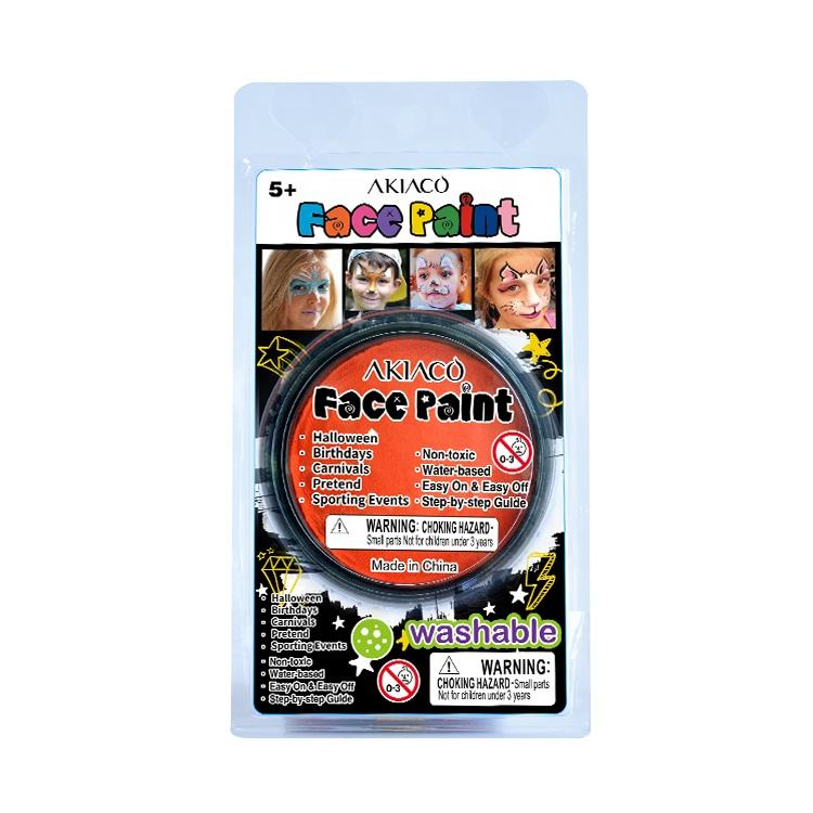 Multi-color optional face painting easy to clean water-based face paint for kids
