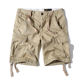 new summer cargo shorts for men's casual trend straight leg five-cent trousers multi-pocket washable large sized medium trousers
