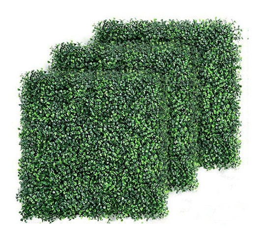 Artificial Plant Wall Vertical Garden Panel Decor Foliage Hedge Artificial Boxwood Hedge Fake Vertical Garden Green Wall