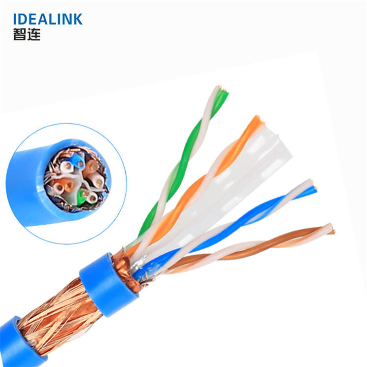 Extra Long 25M 30M 50M Standard Copper SFTP Cat 6 Shielded Ethernet Data Cable