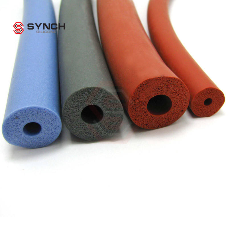 customized high quality silicone rubber tubing foam sponge tube