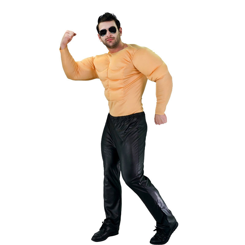 Cool Inflatable Muscle Fancy Dress Carnival Party Role Play Funny Muscle Costume For Adult Men