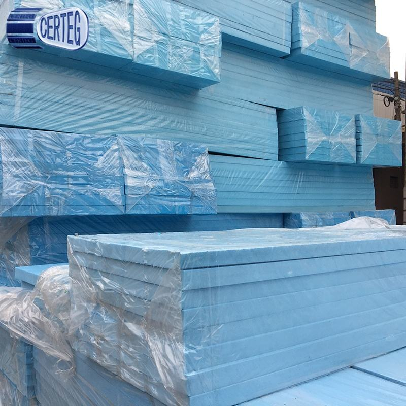 30mm blue extruded polystyrene XPS foam insulation board density 35kg/m3