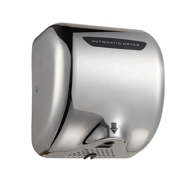 Public Toilet Battery Operated Speed Air Injection Automatic Infrared Sensor Hand Dryer Supplier Manufacturer For Home