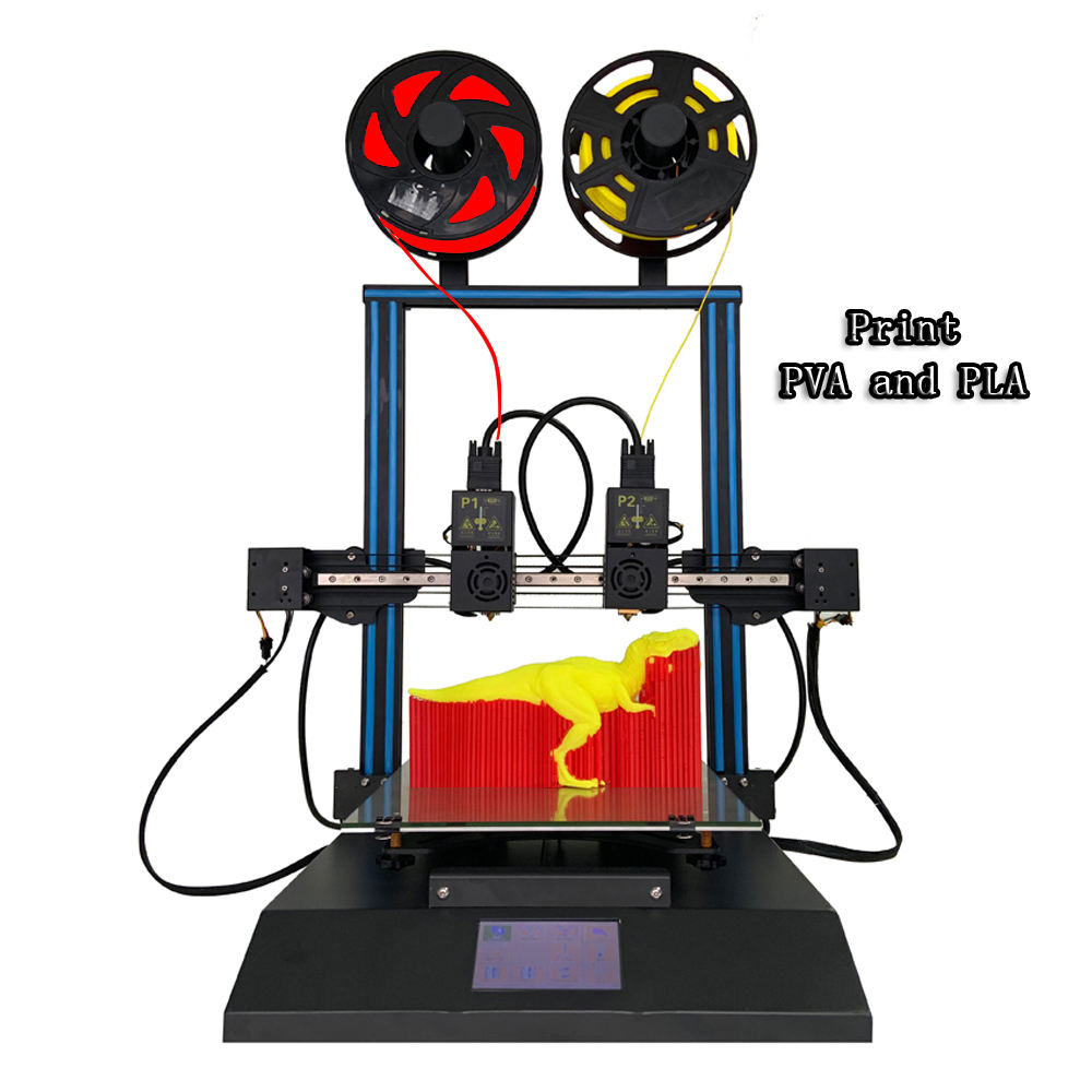 Beautiful and multifunctional dual double nozzler DIY printer 3d digital 300*300*350 build size 3D Printer machine for education