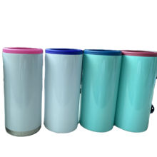 12oz skinny can cooler  Double Wall stainless steel 18/8 Vacuum Insulated bottle or can holder beverage cold container