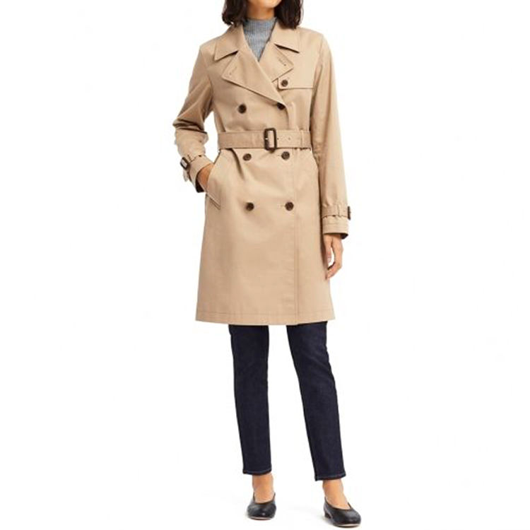 Hot Sale Customized Classic Women Trench Parka Coat With Price