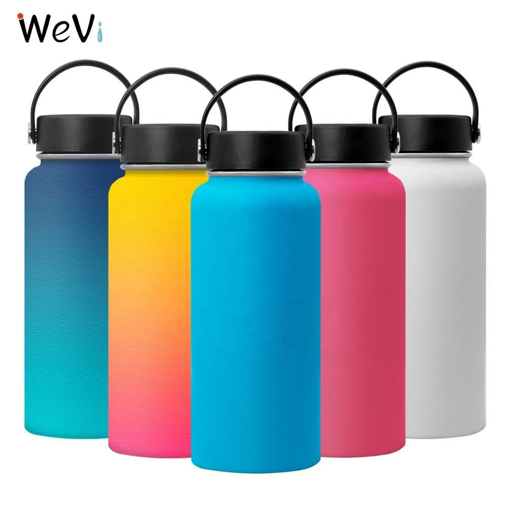 Wide mouth drink sport bottles Double Wall Vacuum Insulated Stainless Steel Water Bottle with custom logo