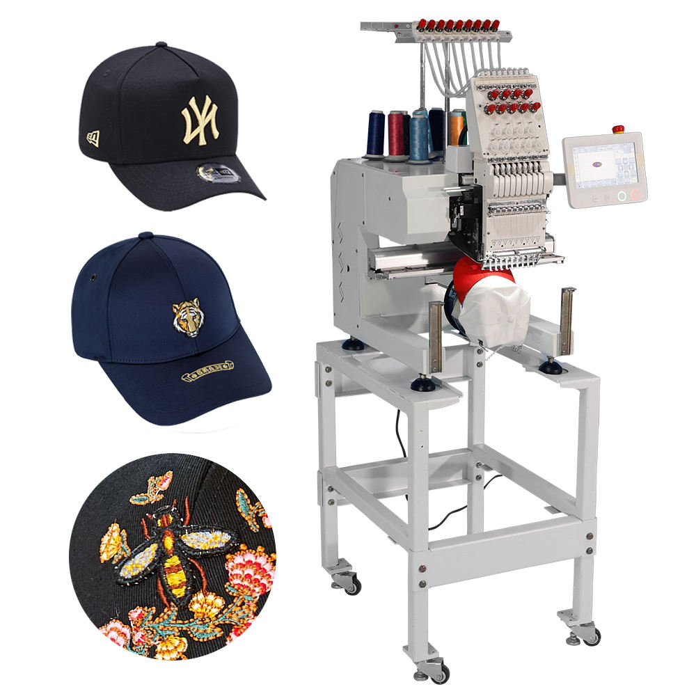 9/12/15 Colors Single Double Head Cap And Flat Computerized Embroidery Sewing Machine Price