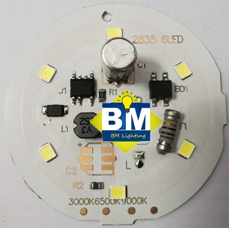 3W 35mm Round Aluminum PCB Board With SMD 7171 LED
