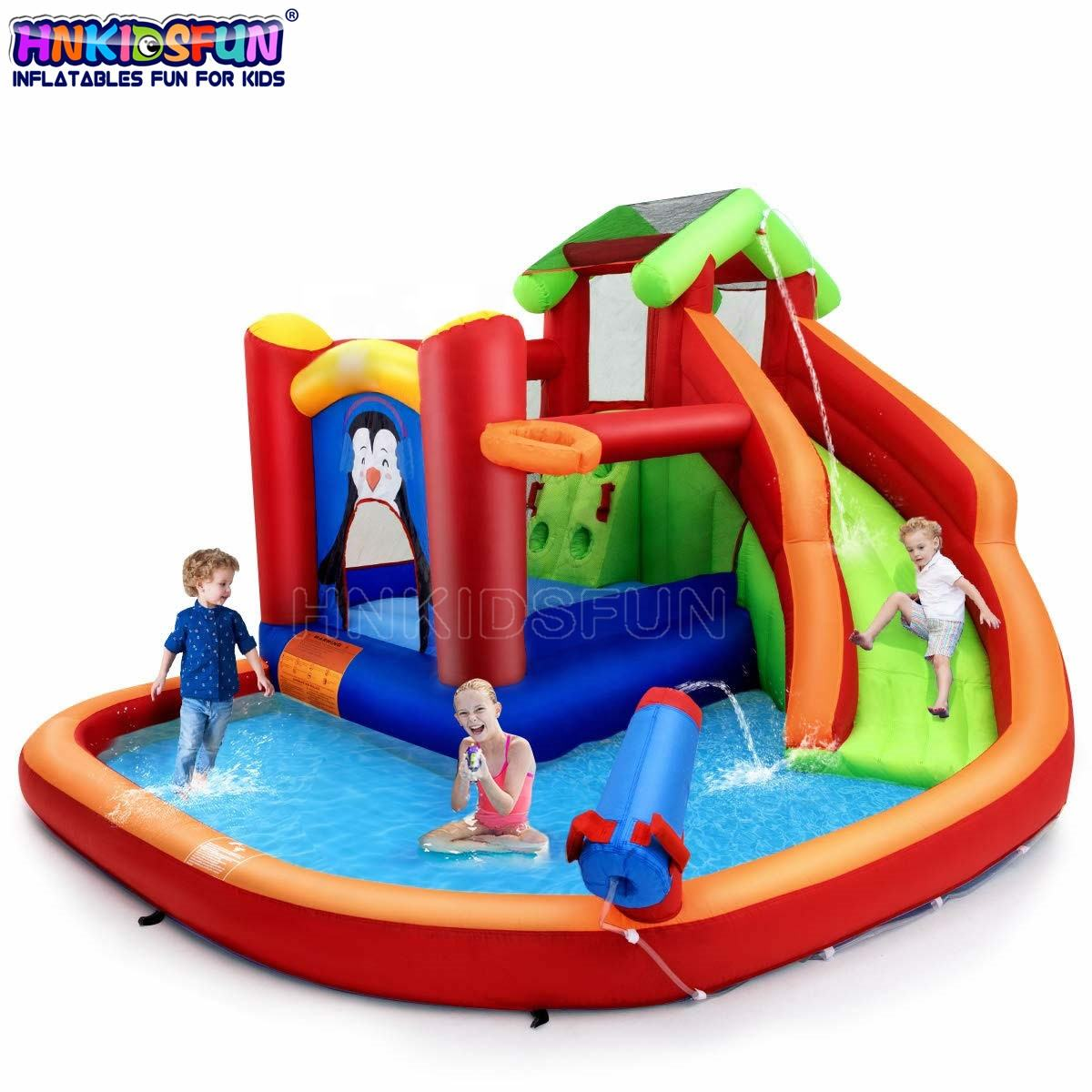 Home Use Air Bouncer Kids Jumping Trampoline Inflatable Bouncy Castles with Slide