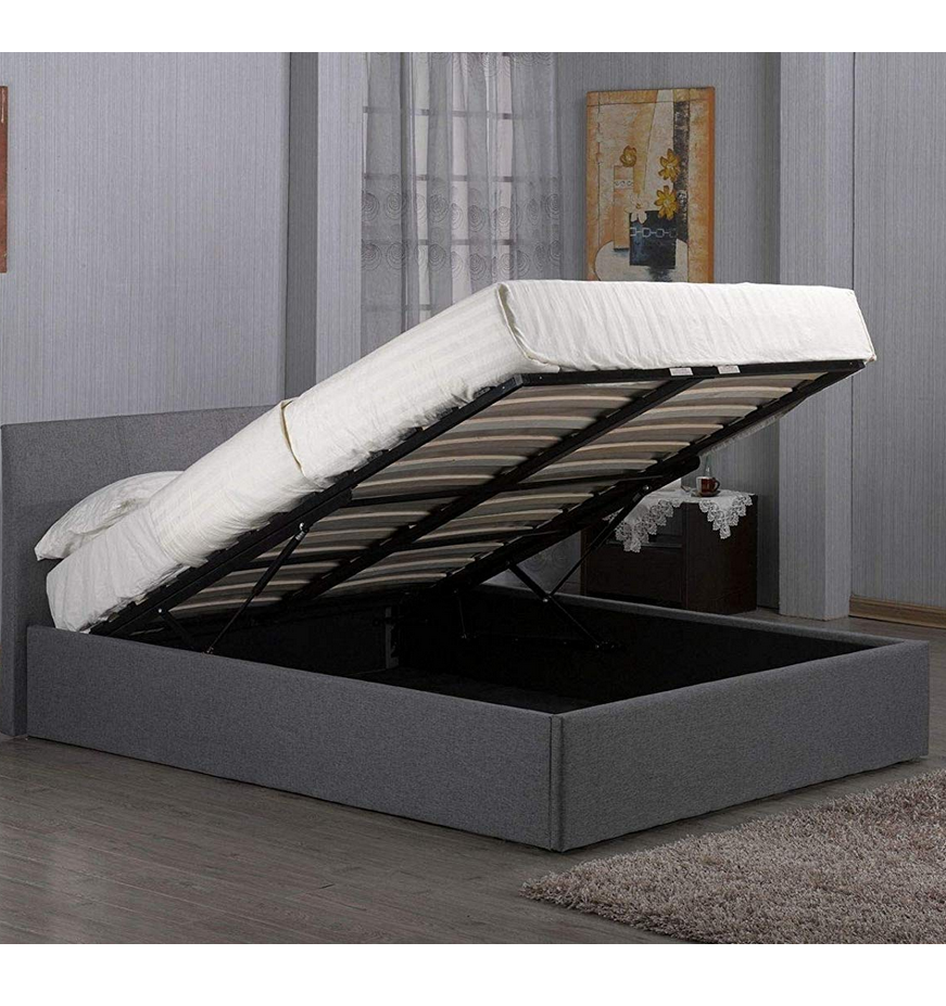 Home Bed Specific Use and Wood Material modern leather bed with storage