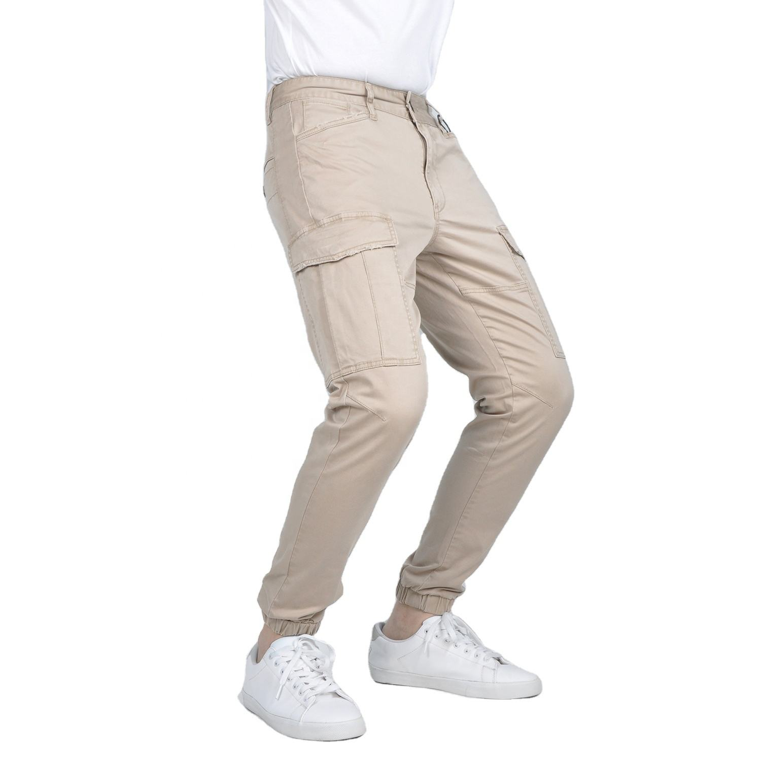 Decoration stitching patch cargo six pocket side winter business pant suit main stock india cheap chinos trousers in china