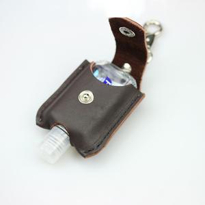 Durable Leather Hand Sanitizer Bottle Holder Alcohol Bottle Protective Case