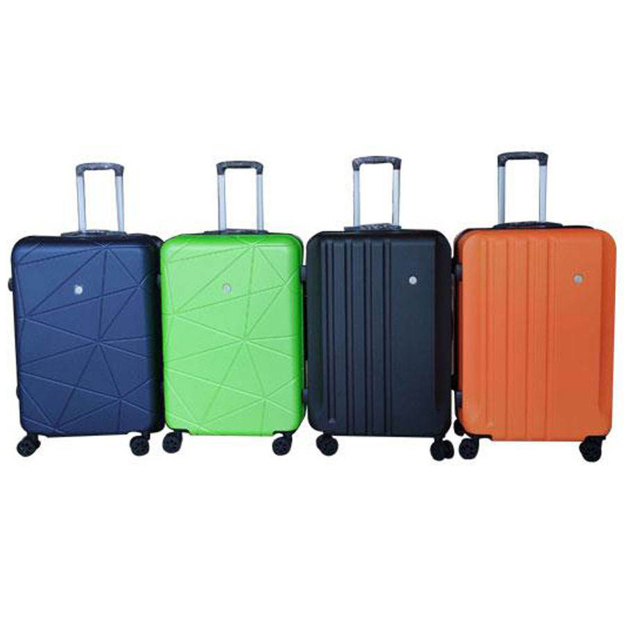 SKD semi-finished abs hardshell trolley travel suitcase luggage bags 12pcs sets valise