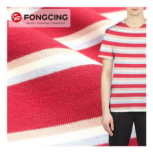 China Manufacturer Knitted 94 Cotton 6 spandex ribbed textured FABRIC yarn dyed fabric textile sale