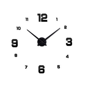 hot sale decorative 3d diy wall mounted frameless sticker clock for home