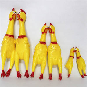 Funny Screaming Rubber Chicken Squeaky Pet Toys Dog Chew Toy