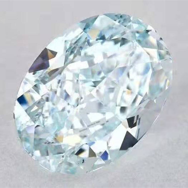 oval cutting genuine diamond with wholesale price GIA VS2 fancy greenish blue 2.15ct natural loose diamond