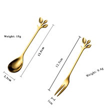 Good Price Stainless Steel Small Moon Cake Coffee Tea Spoon Gold Fruit Dessert Fork Spoon Price