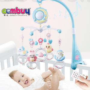 Moon projection bedside lighting toys music baby bed hanging bell