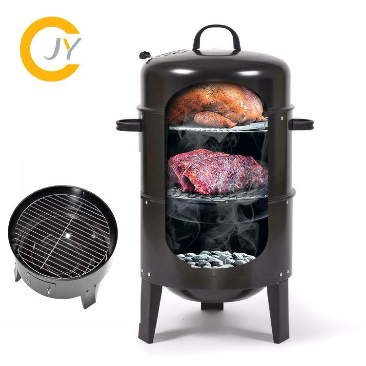 Wholesale High Quality 3 in 1 Stainless steel Charcoal smoker camping tandoor oven