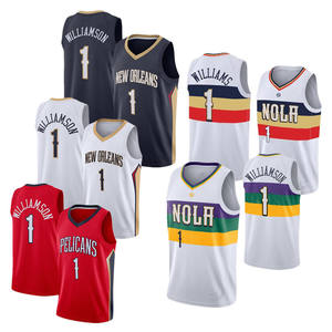 NBA New Jersey Pelican #1 Zion Williamson Zion Williamson Basketball Jersey