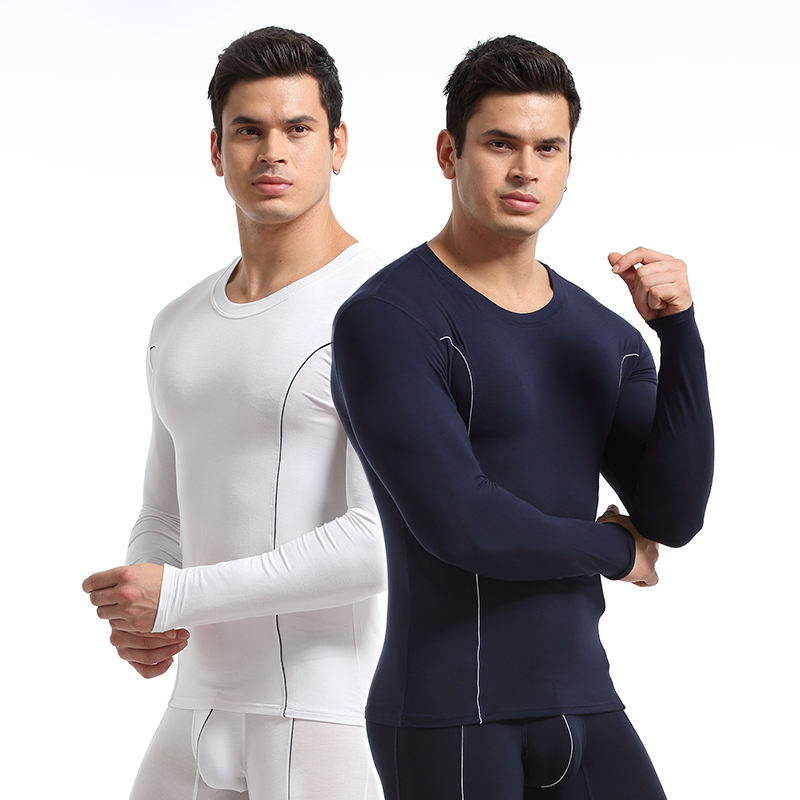 New Product Winter Thermal Wear round Neck Long Johns bamboo mens Thermal Under Wear
