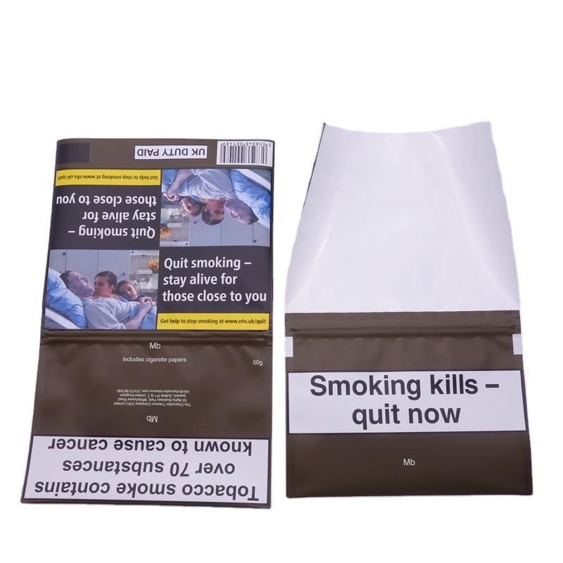 wholesale 50g tobacco rolling smoking pouch/smoking rolling bag/tobacco bags