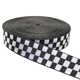 Belt Ribbon Custom Design Checkered Pattern Black Belt PP Webbing For Pet Ribbon