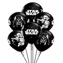 12 Inch black Star R2D2 BB8 war balloon robot Master Yoda Darth Vader printing latex globos party decoration supplies