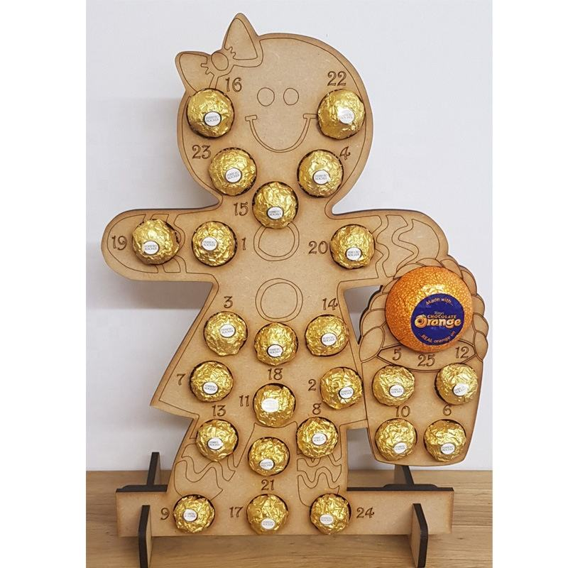Christmas Wooden Deer Tree Santa Shaped Chocolate Shelf Display Supplies Pyramid Ferrero Rocher Display Stand