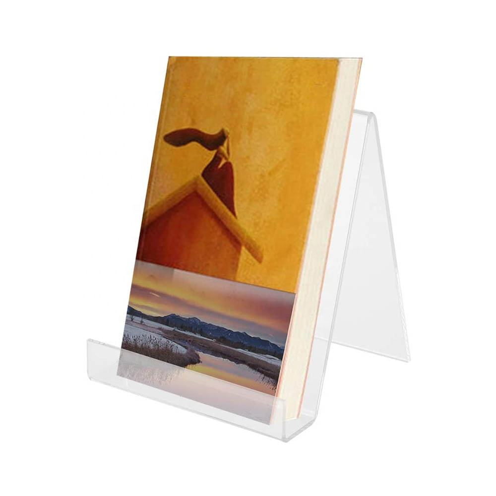 Customize Acrylic Easel Book Stand Holder Clear Acrylic Display Stand for Phone Music Record