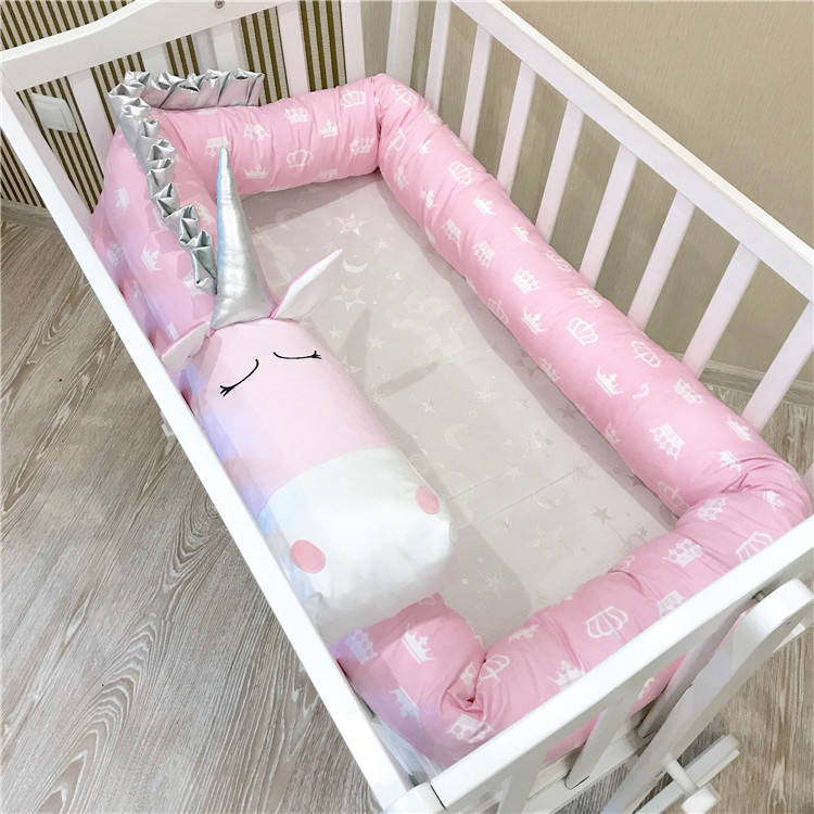 100% Cotton Baby Bedding Set Bumper Braided Baby Bed Crib Cot Bumper