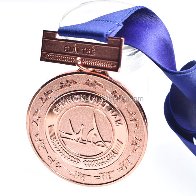 Custom Metal Souvenir Sports Medals Gold Metal with Ribbon